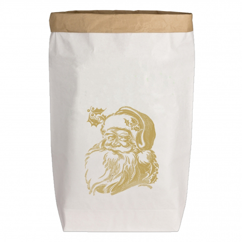 Paperbags Large weiss - Weihnachtsmann
