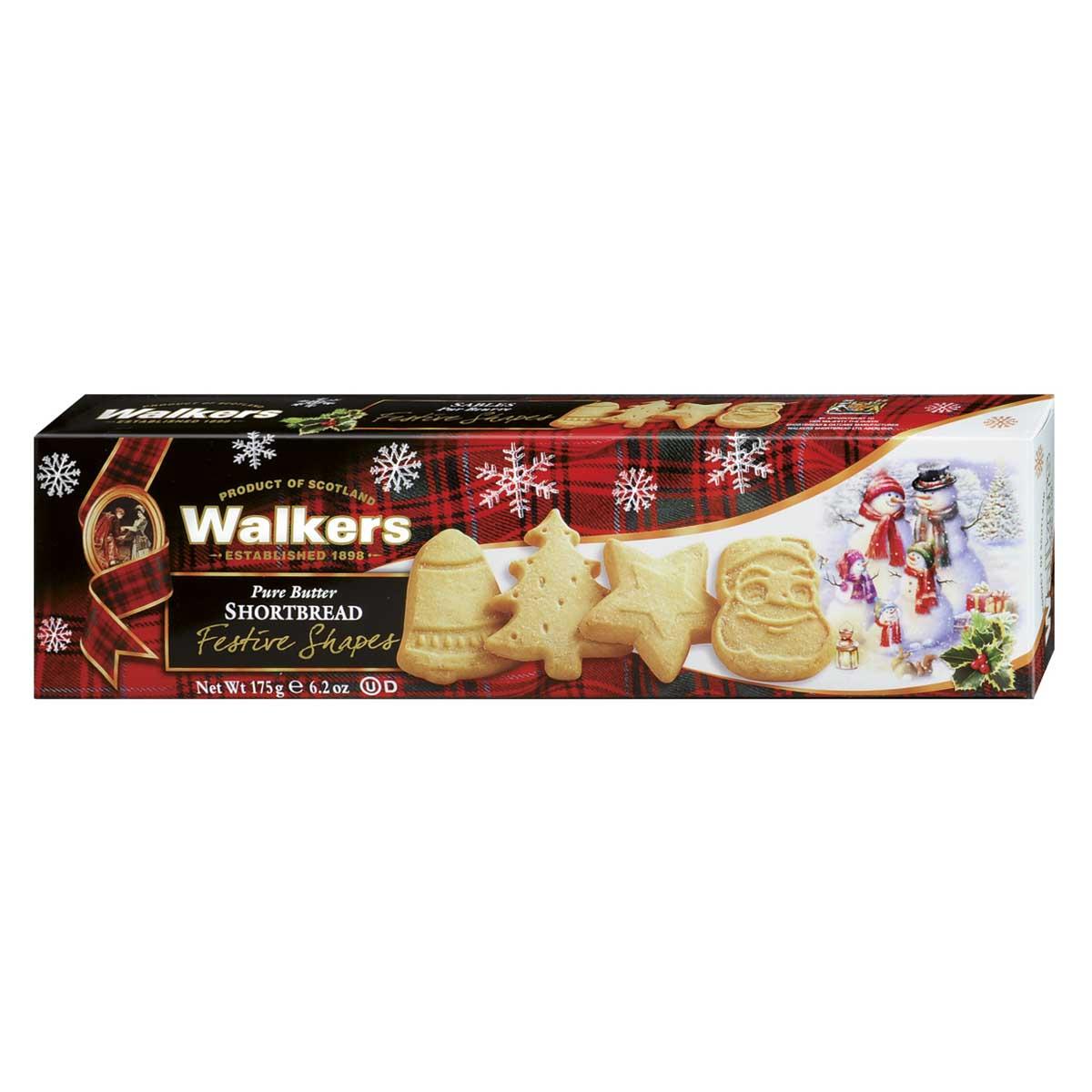 Walkers Shortbread – Festive Shapes Shortbread 175g.