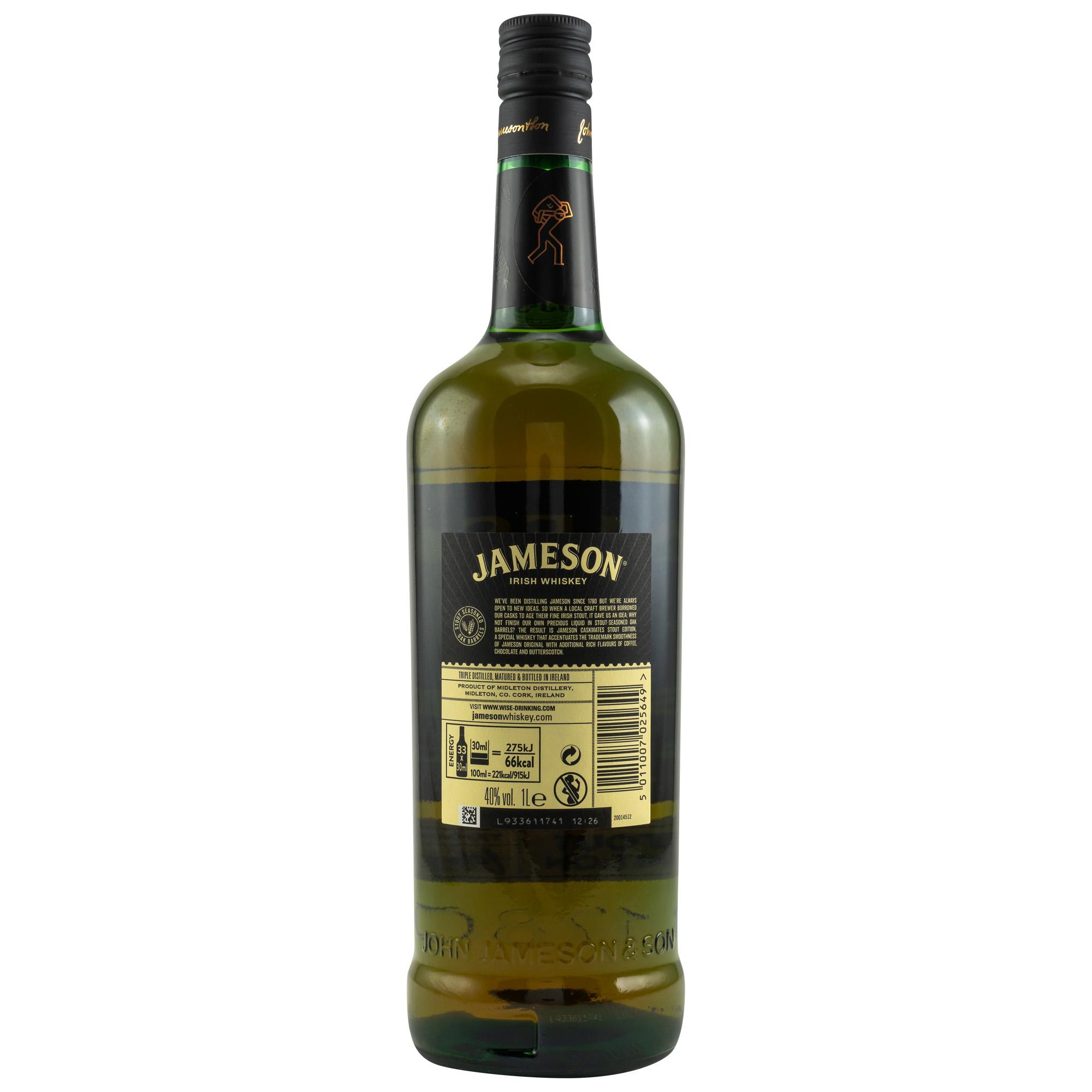 Jameson Caskmates 40% - 1,0L.