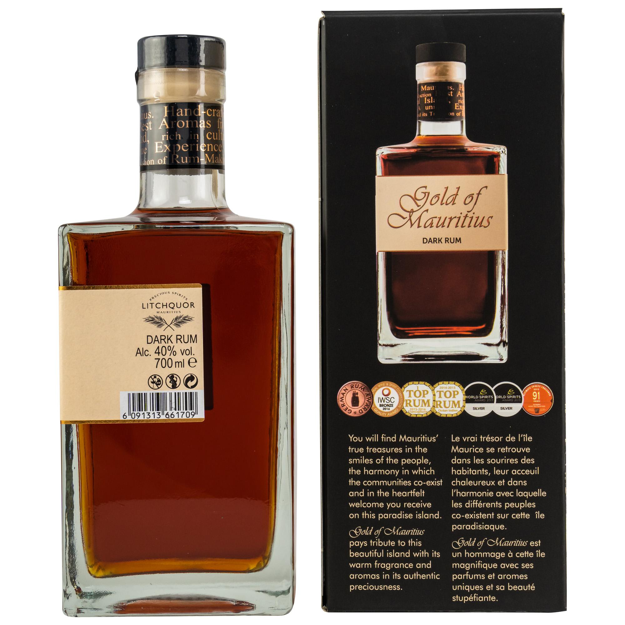 Gold of Mauritius Dark Rum 40% - Mauritius