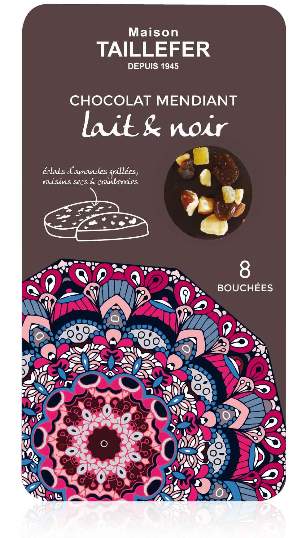 Maison Taillefer Zartbitter- und Milchschokolade-Bouchées mit Trocken- und kandierten Früchten 75 g