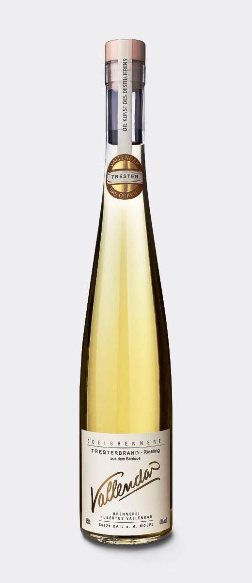 Vallendar Tresterbrand -Riesling- aus dem Barrique 43% - 0,5l.
