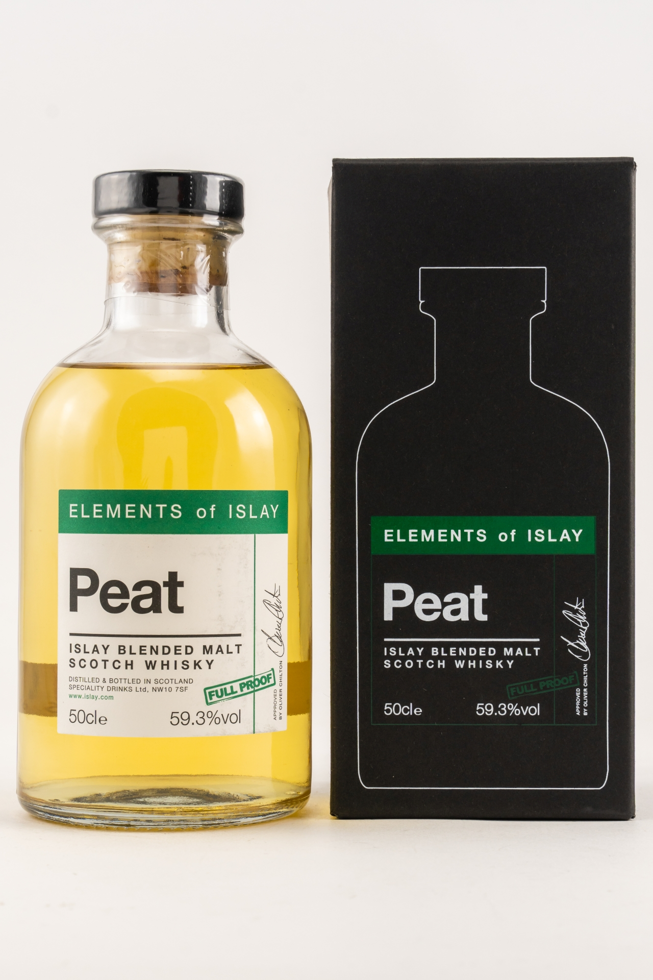 Elements of Islay - Peat Full Proof 59,3% - 0,5l.