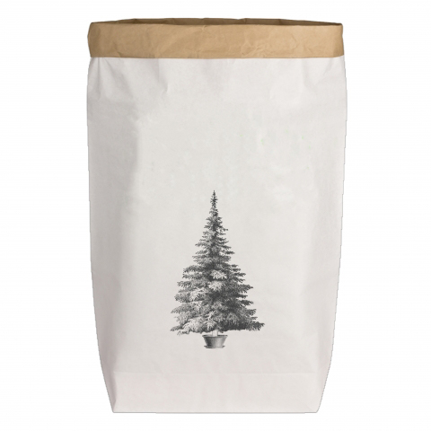 Paperbags Large weiss - Weihnachtsbaum