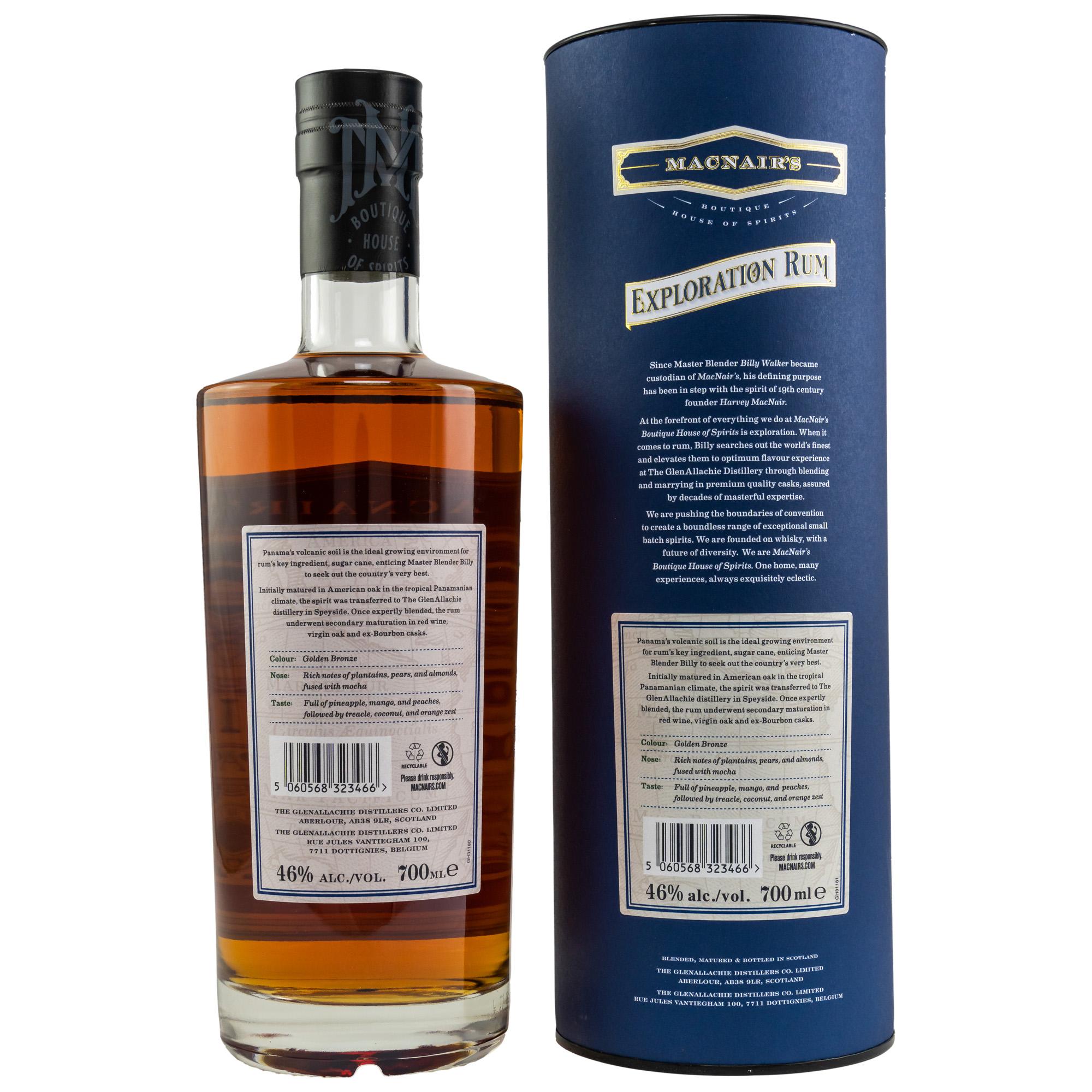 MacNairs Exploration Panama Rum 15 y. 46%