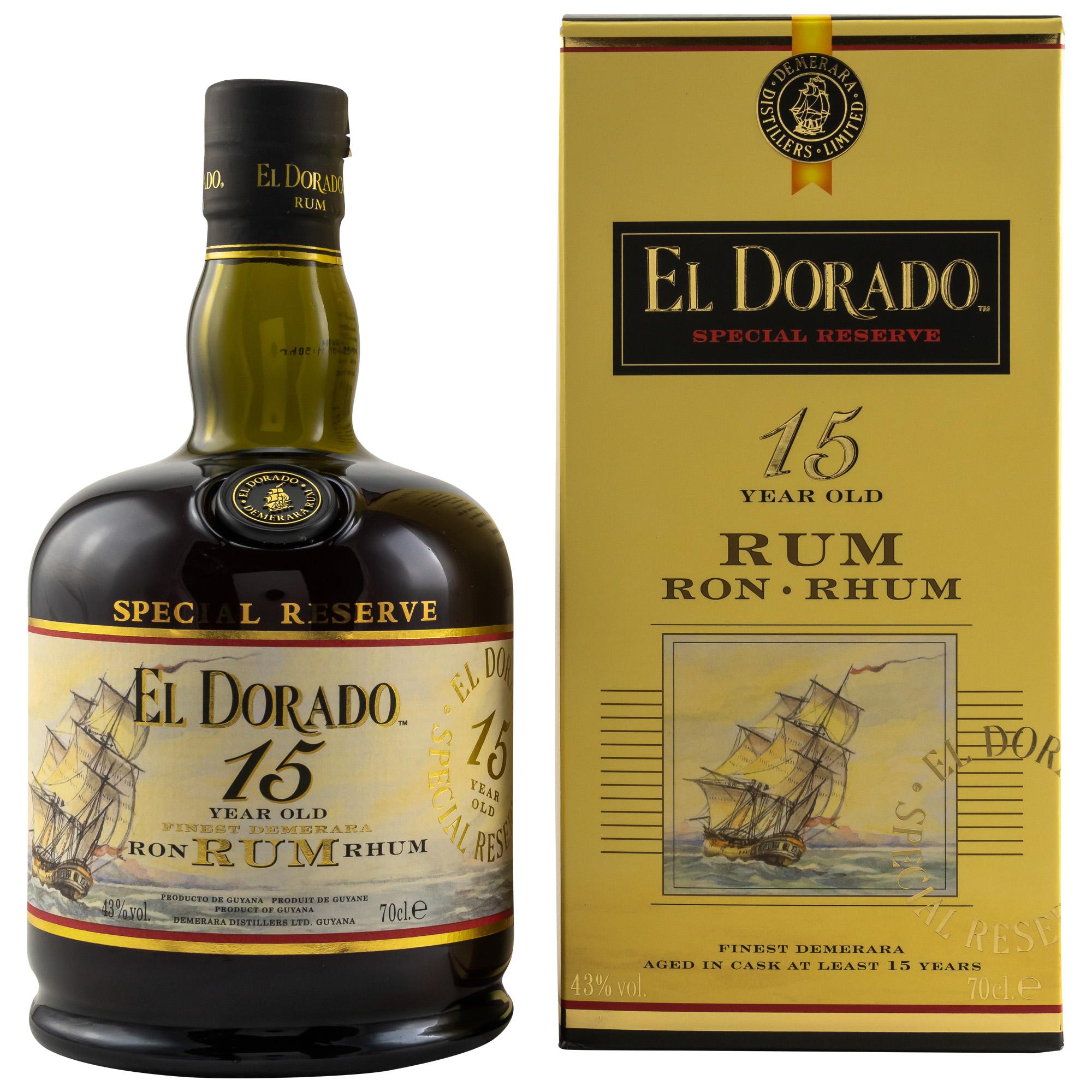 El Dorado Rum 15y, Guyana 40%