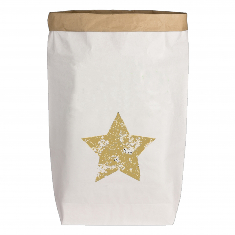Paperbags Large weiss - Stern
