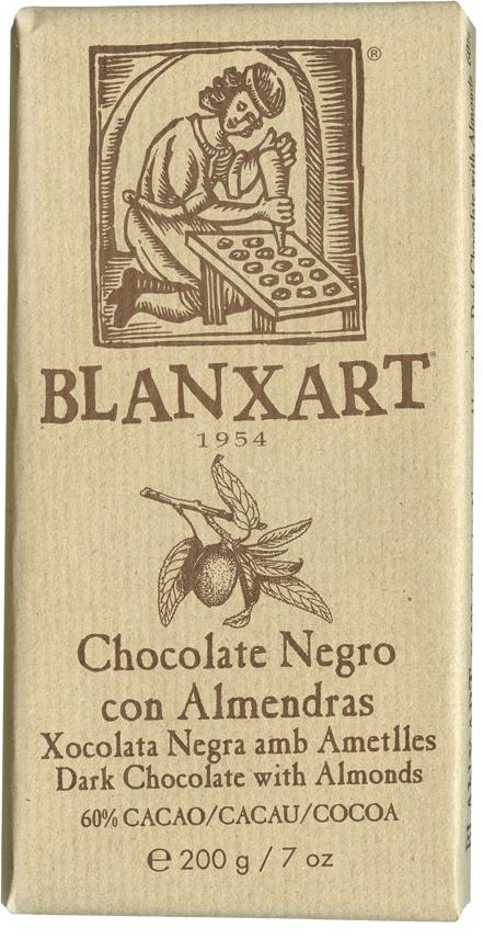 Blanxart - Chocolate negro con Almendras 60 % 200g