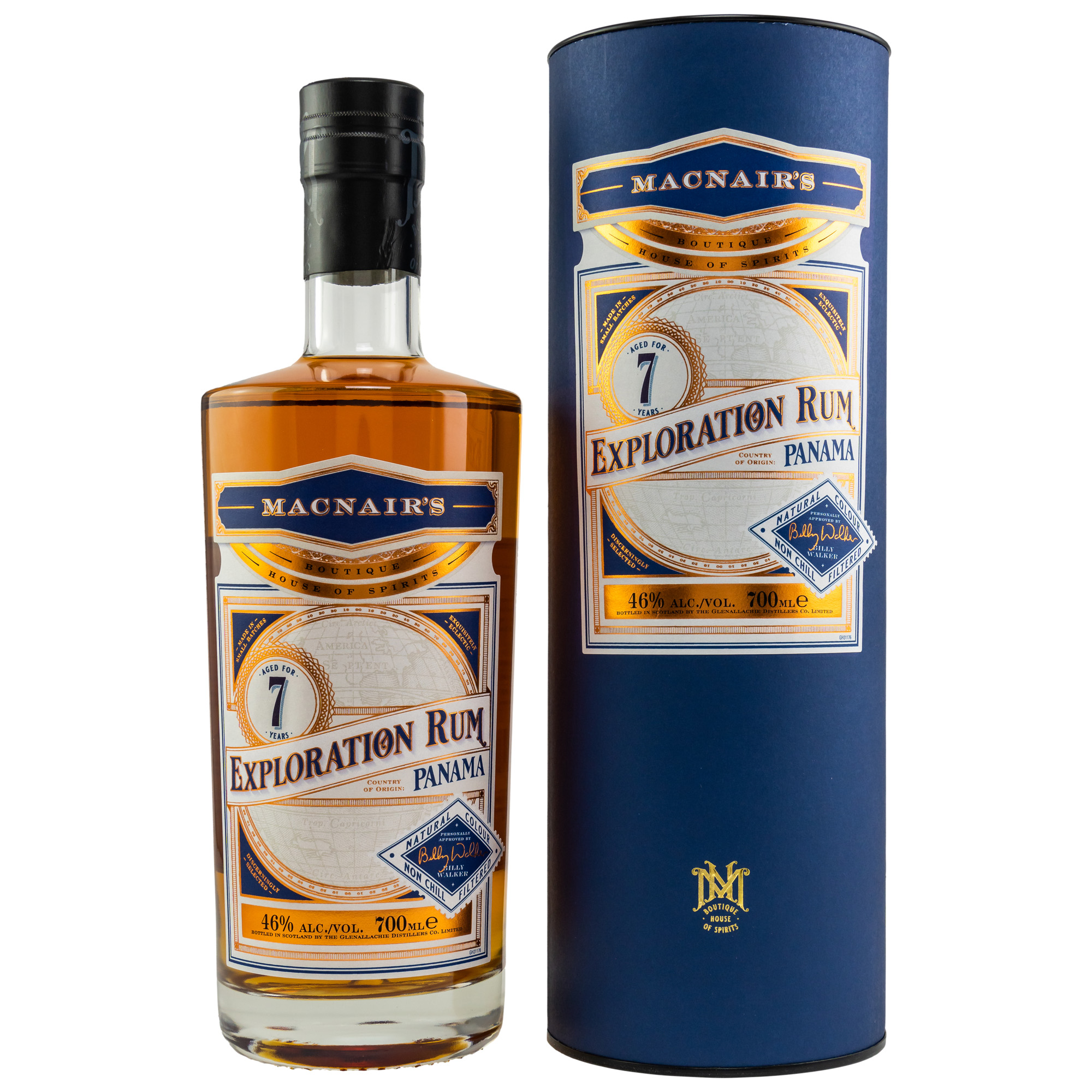 MacNairs Exploration Panama Rum 7 y. 46%