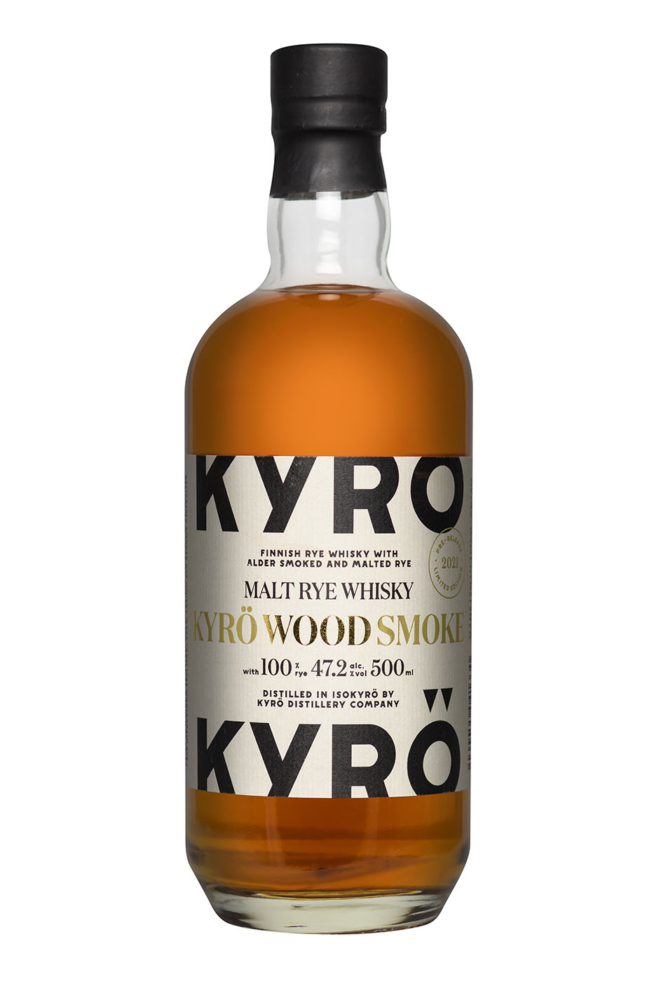 Kyrö Wood Smoke - Malt Rye Whisky 47,2% - 0,5l.