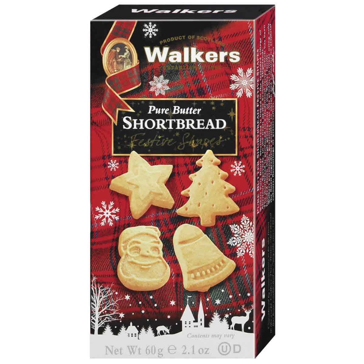 Walkers Shortbread – Festive Shapes Shortbread 60g.